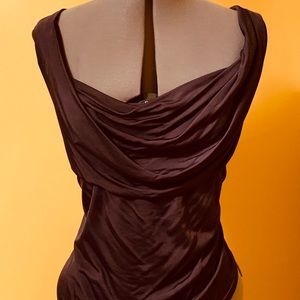 Draped collar to